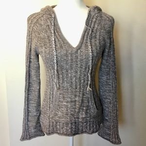 Roxy Ribbed Detail Hooded Sweater - S